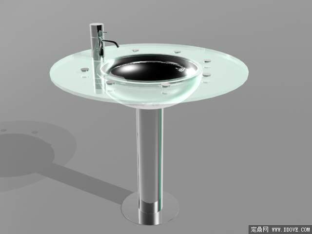 风格别墅卫生间室内装饰效果图3dmax场景模型带完整材质贴