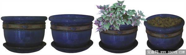 80张psd格式后期花卉植物素材之花盆花钵素材-fb79