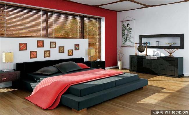 卧室效果图带3dmax场景模型材质贴图