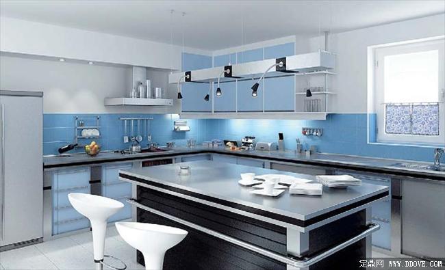 厨房室内效果图带3dmax场景模型材质贴图_高品质完整