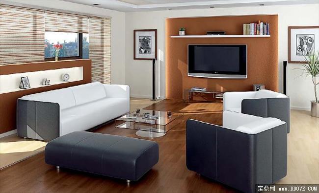 客厅室内效果图带3dmax模型图片
