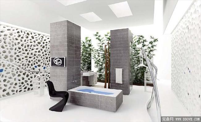五星级卫生间室内效果图3dmax场景模型带材质贴图图片