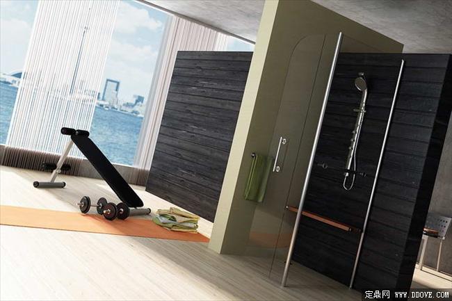 健身房室内装饰效果图3dmax场景模型带材质贴图