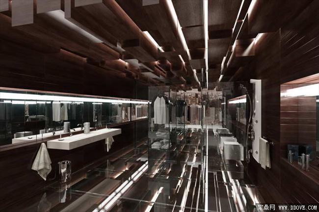 星级卫生间室内装饰效果图3dmax场景模型加材质贴图
