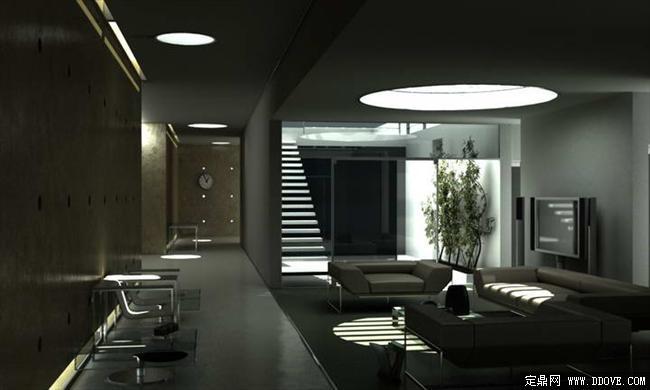 客厅室内装饰效果图3dmax场景模型带完整材质贴图
