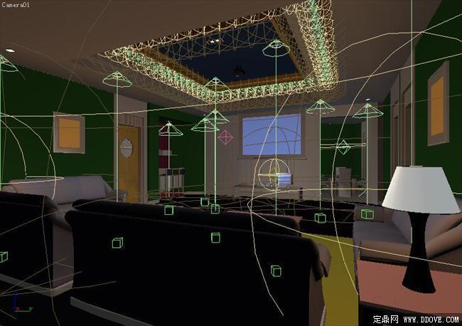 ktv包房室内装饰效果图3dmax模型文件