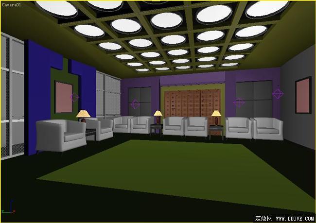 会客厅室内装饰方案3dmax模型库