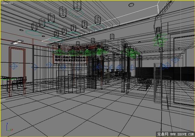 企业前台接待处室内装饰设计方案3dmax模型文件