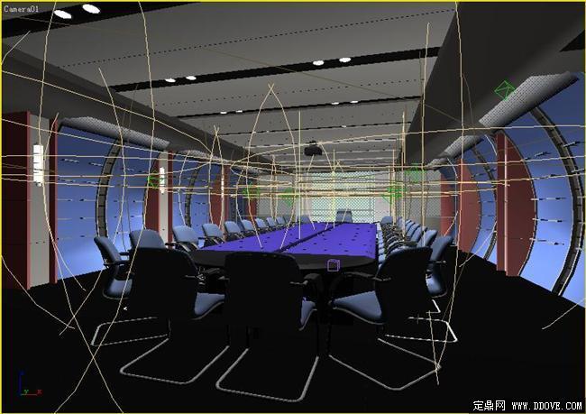 體育運動器材公司會議室室內裝飾3dmax模型