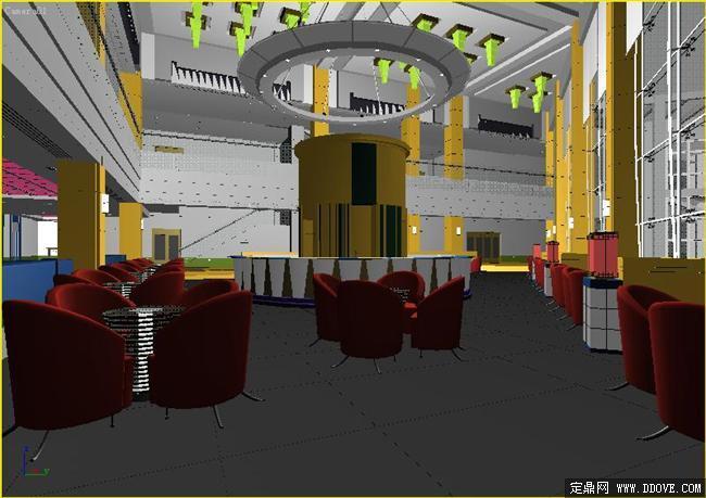 模型库3dmax室内设计效果图 亚洲风情咖啡厅室内设计方案3