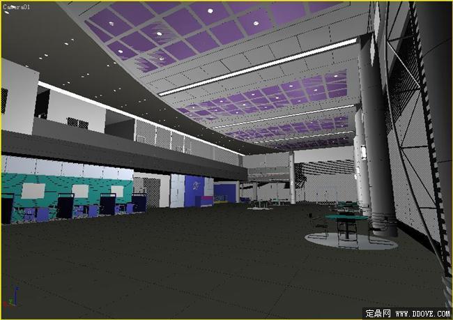 五星级酒店大堂装饰设计效果图3dmax模型库 高清图片