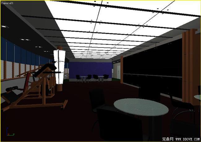 健身房室内装饰3dmax模型库 高清图片