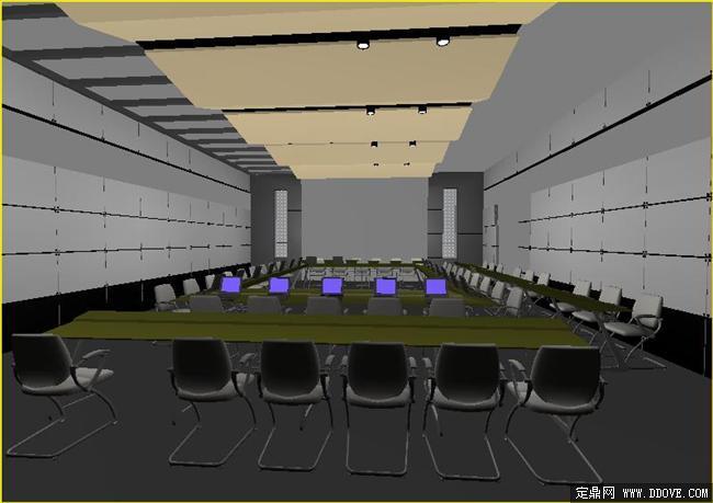 商务会议中心室内装饰设计3dmax模型源文件