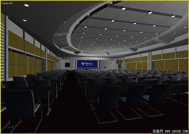 大型会议室室内装饰设计3dmax模型库