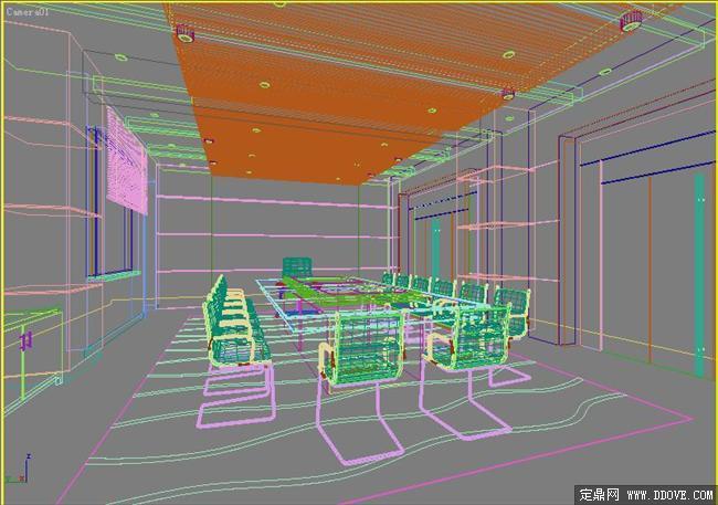 办公空间会议室3dmax模型库 高清图片