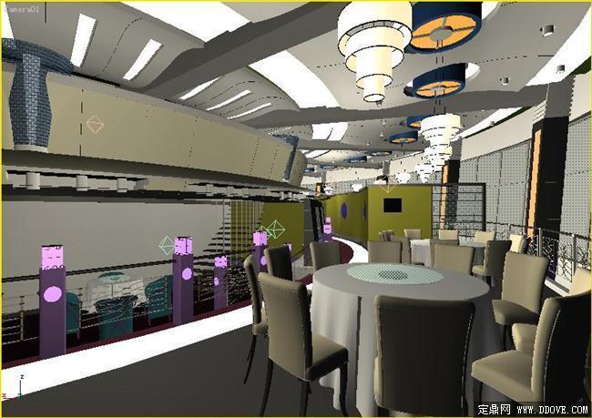 某餐厅室内装饰3dmax模型库 高清图片