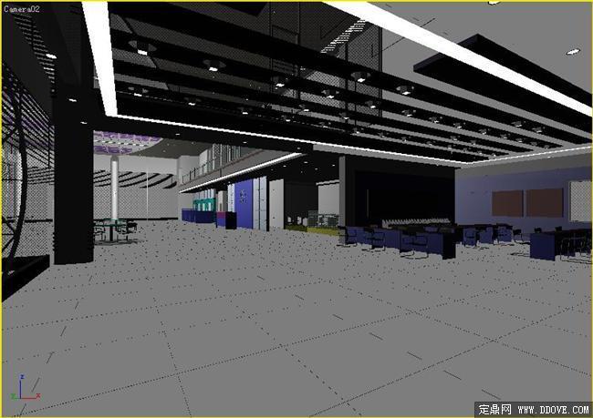 汽车展厅室内装饰设计效果图3dmax模型