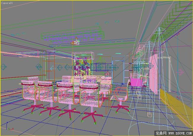 客厅饭厅室内设计方案3dmax模型