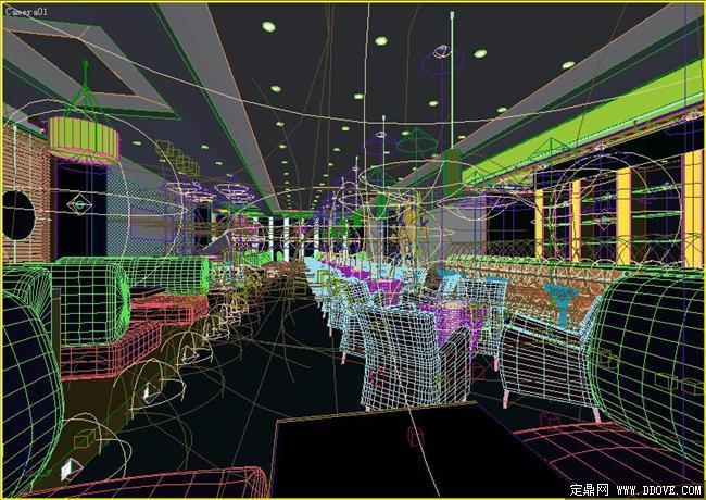 高级咖啡厅大堂室内3dmax模型文件图片
