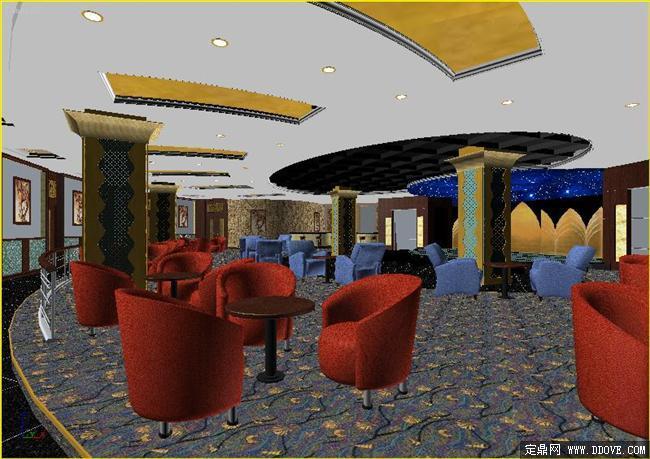 歌舞厅53dmax模型场景文件带完整的材质贴图