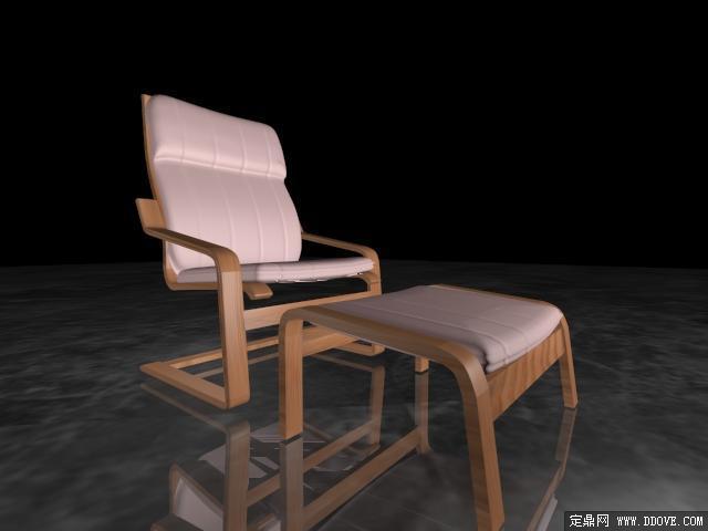 定鼎网 设计素材 三维模型 室内家具 躺椅3d模型  序号 文件名