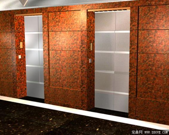 办公家具电梯间53d模型