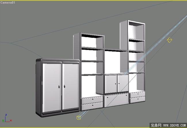 室内模型之家具B-073D柜子cadv图片
