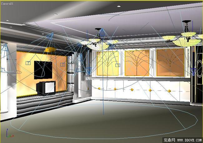 某办公休息空间室内装修3d模型