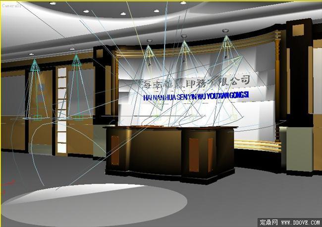 某公司前台室内装修3d模型