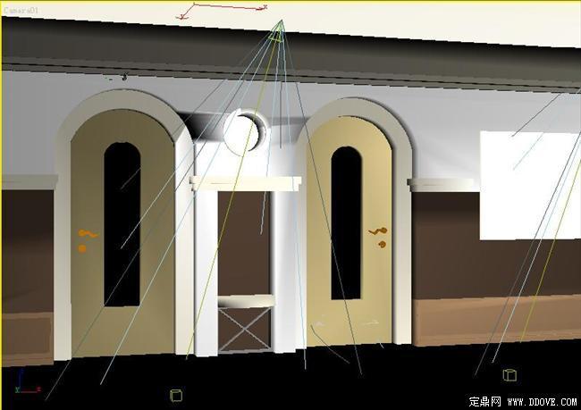 橱柜 某宾馆卧室门室内装修3d模型
