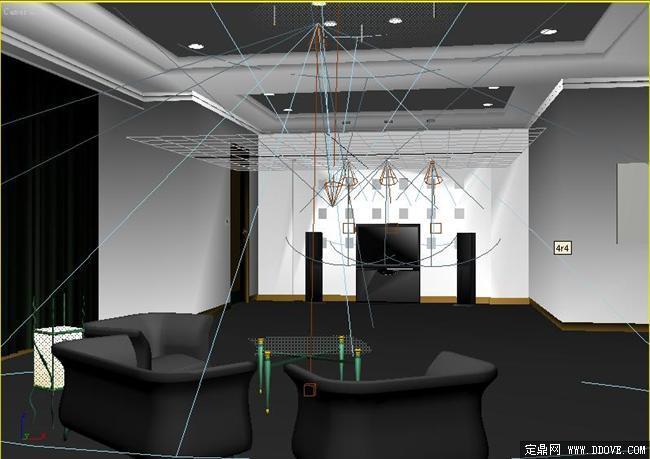 某小會議室室內裝飾設計3d模型