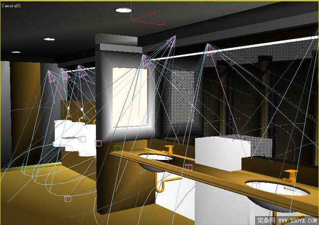 某洗手间室内装修3d模型