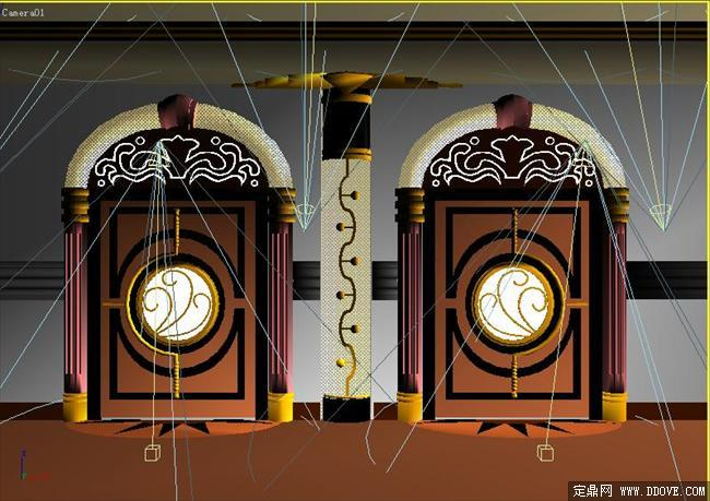 酒店房间门室内装饰设计3d模型