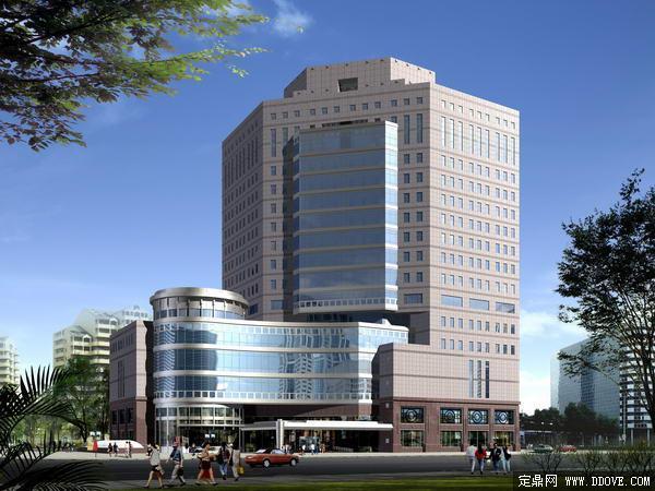 商住两用大厦建筑单体效果图-psd分层素材模板