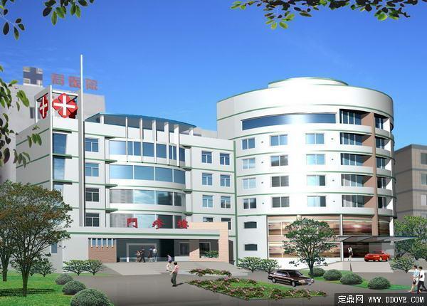 某医院门诊大楼建筑设计方案效果图-psd分层素材模板