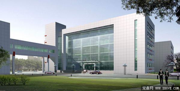 教育机构建筑设计方案效果图-psd分层素材模板