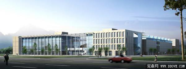 大型办公建筑设计方案效果图 psd分层模板素材