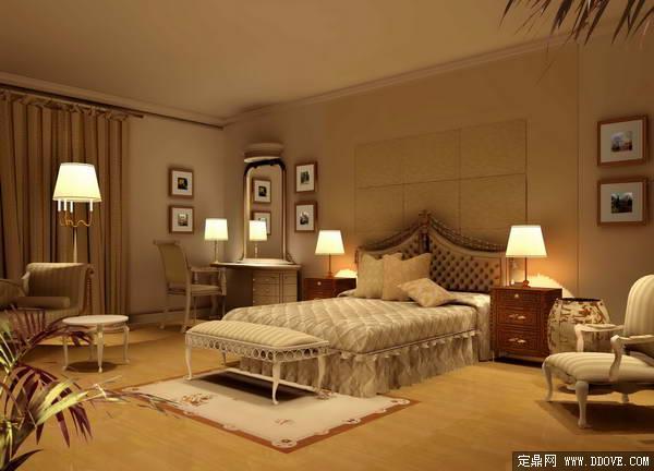 中式风格高档室内装饰之卧室室内装修方案效果图模型