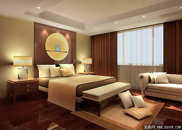 翠湖别墅套房卧室室内装饰方案3DMAX模型文件加PSD分层素材模板