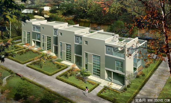 别墅庭院建筑设计方案3dmax模型文件加psd分层素材