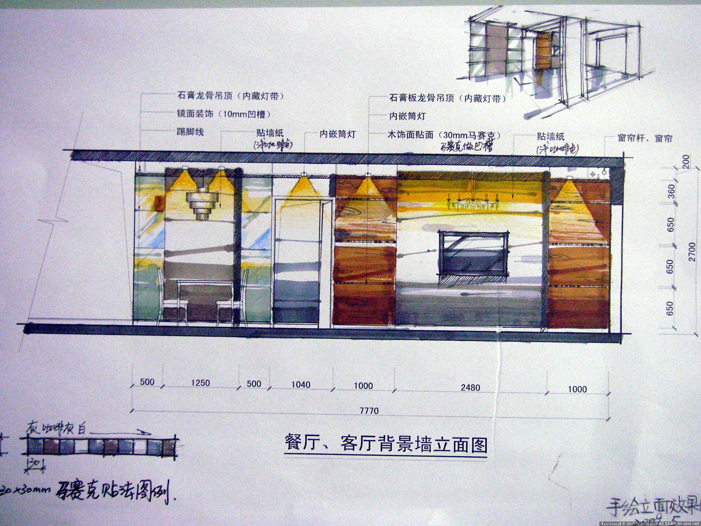 住宅室内手绘设计图