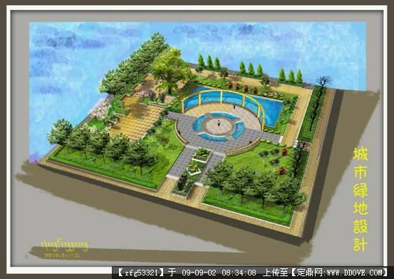 景观设计方案手绘效果图的图片浏览