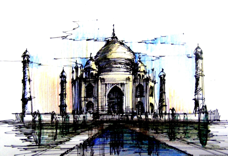 徒手表现,灵感记忆-建筑手绘一张的图片浏览,建筑效