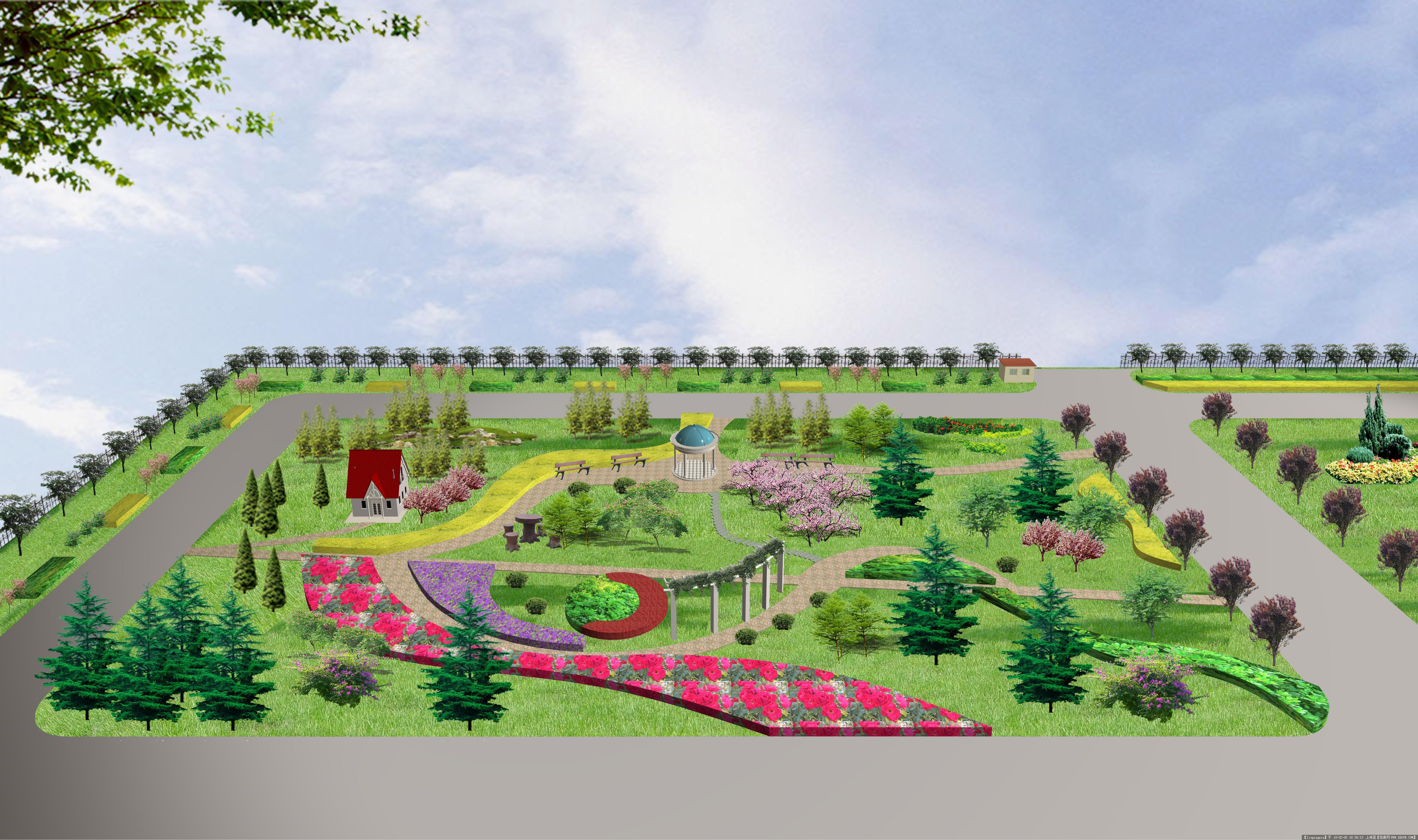 工厂绿化效果图的图片浏览,园林效 图,单位厂区,园林景观设