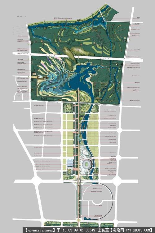 滨水绿地设计平面图