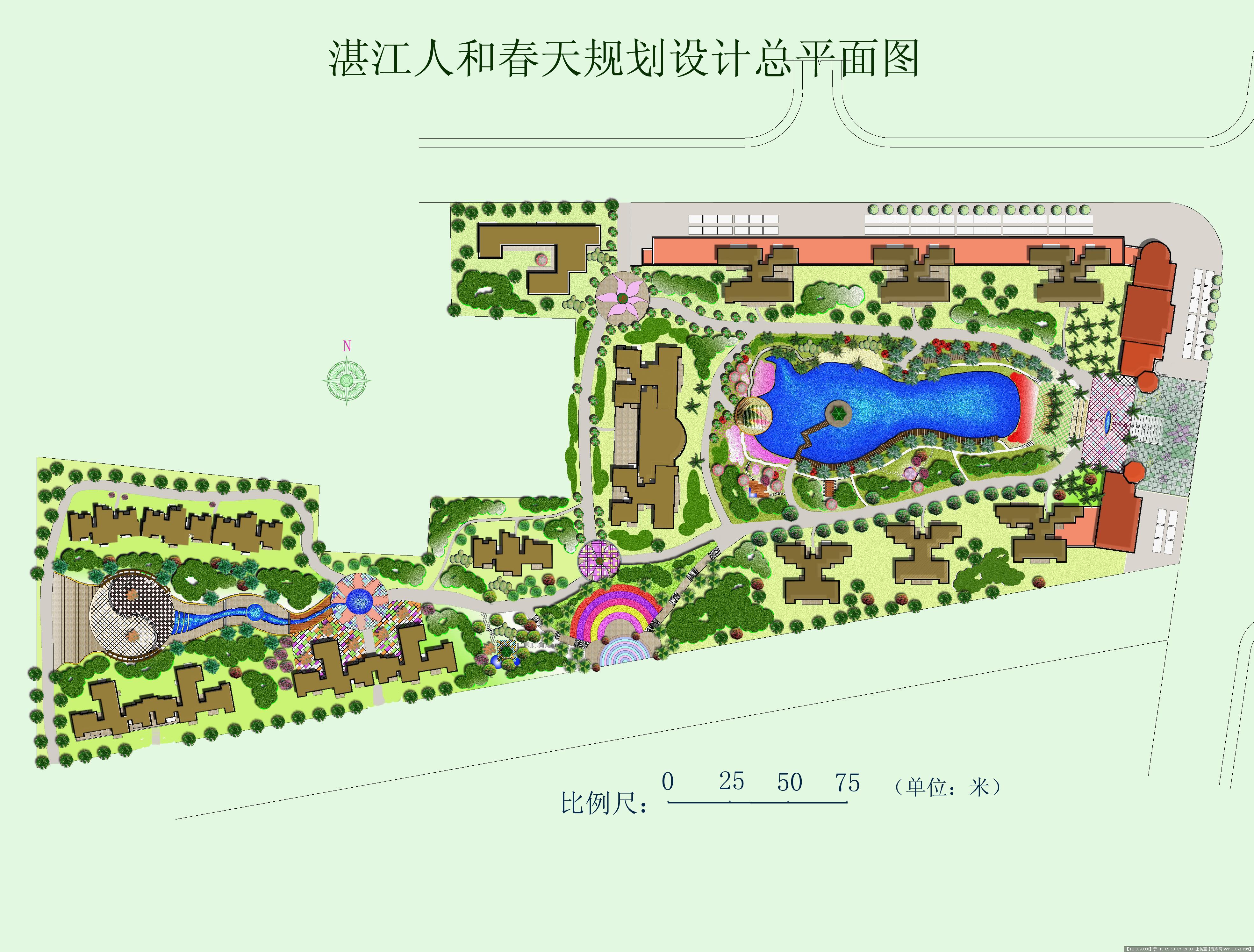 某小区规划设计平面效果图 ps的图片浏览,园林方案设计,居