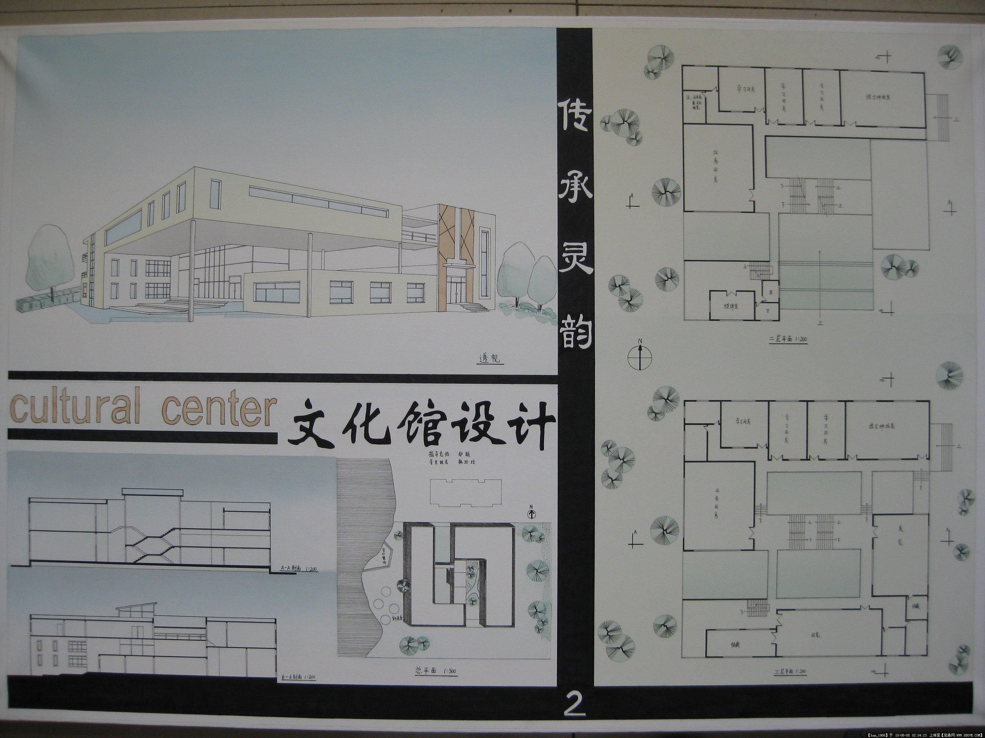 文化馆建筑设计手绘方案