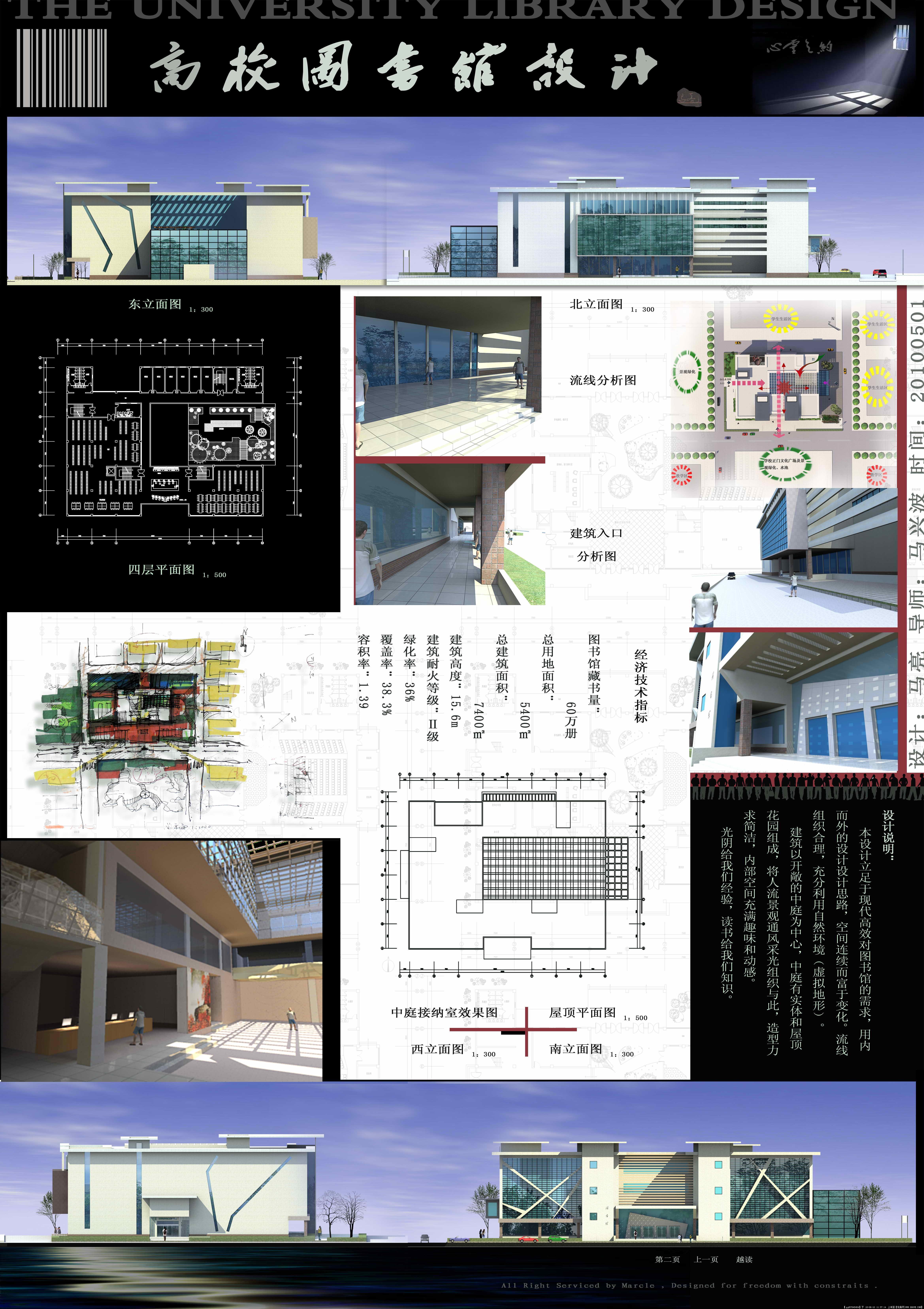 图书馆设计展板一张大图