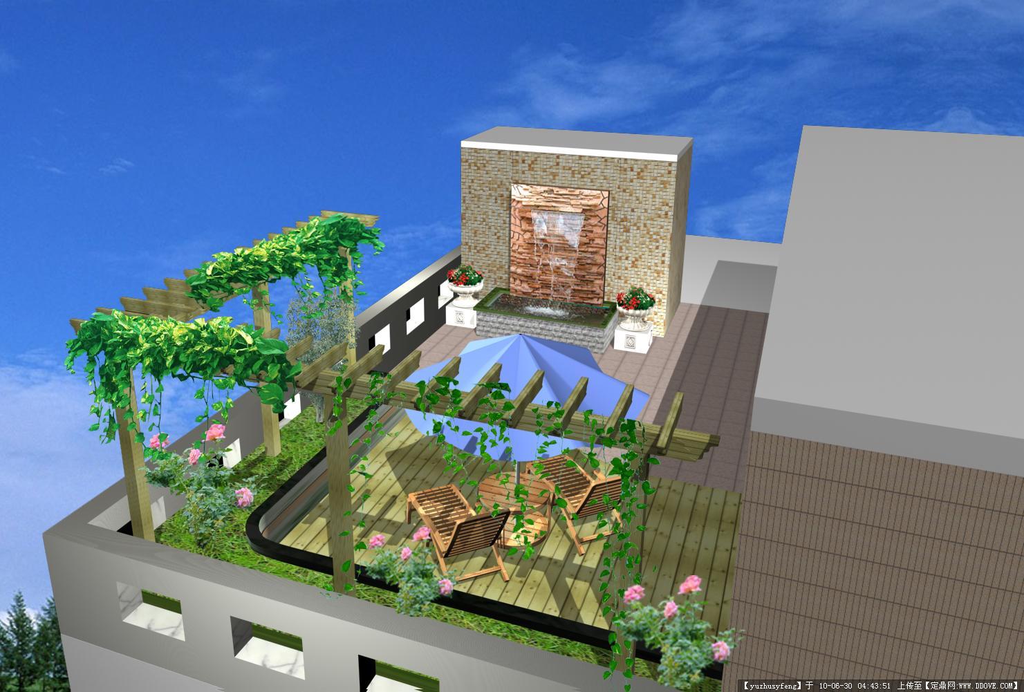 小庭院设计效果图一张