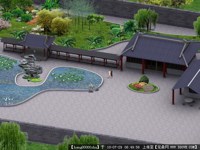 中国古典式园林游园
